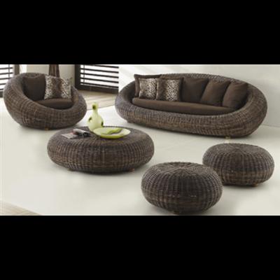 Meubles en jacinthe d eau et les meubles en rotin ou for Canape en osier ou rotin