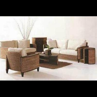 Meubles en jacinthe d eau et les meubles en rotin ou for Meuble en rotin