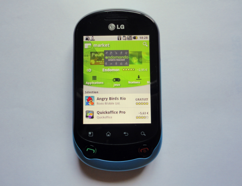 Test du smartphone LG Optimus Chat