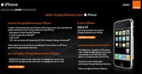 orange business iphone