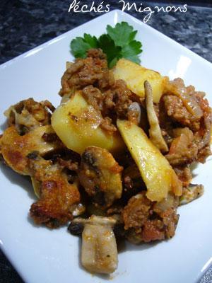 Boeuf, Pommes de terre, Champignons
