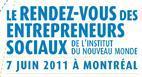 Montréal 2ème édition rendez-vous entrepreneurs sociaux