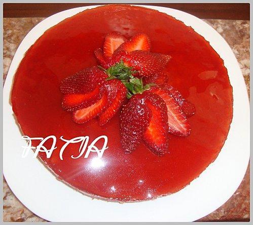 Tarte aux fraises et sa gel e miroir paperblog for Miroir aux fraises