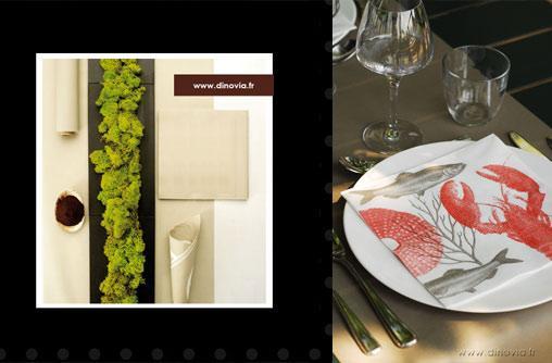 nappe chemin de table serviette intiss paperblog. Black Bedroom Furniture Sets. Home Design Ideas