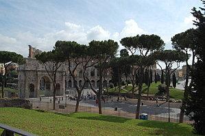 Rome le colisée à partir du pallatin