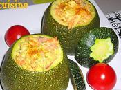 Courgettes farcies légumes dinde jambon