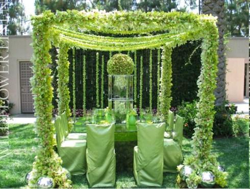 10 decorations de salle de mariage vertes d couvrir. Black Bedroom Furniture Sets. Home Design Ideas