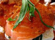Petits rôtis saumon, tomates séchées, ricotta estragon