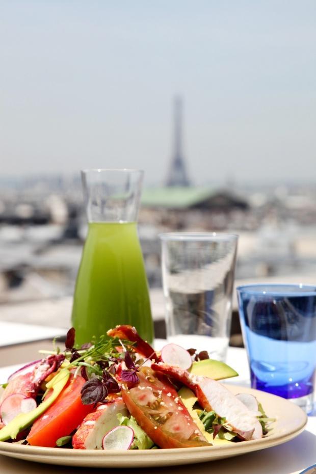 5LA TERRASSE GALERIES LAFAYETTE Paris Haussmann salade de homard et thÇ vert glacÇ