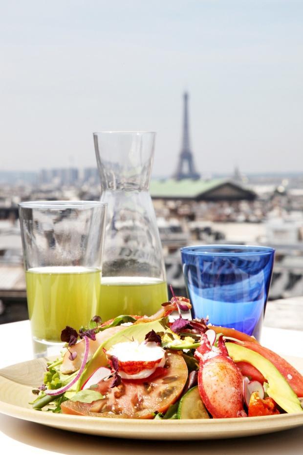 6 LA TERRASSE DES GALERIES LAFAYETTE Paris Haussmann salade de homard et thÇ vert glacÇ