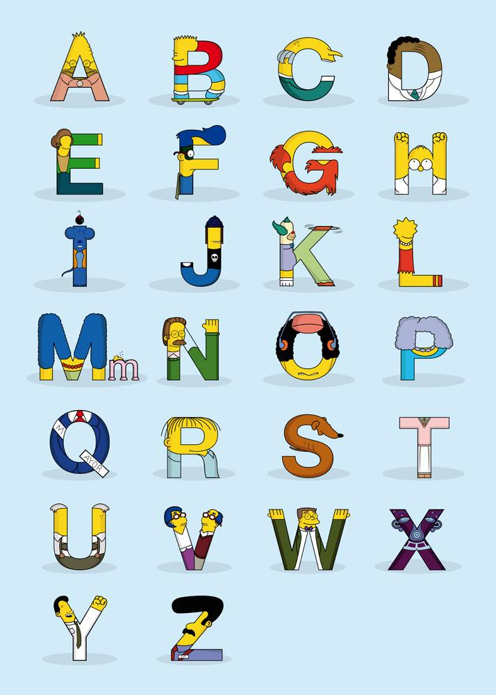 alphabet Simpsons