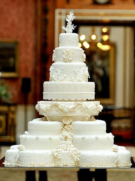 Kate et William: le gâteau de leur mariage - Paperblog