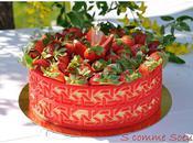 """Verveine O'Fraises"" entremets fraises, verveine rhubarbe"
