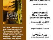 """vous écris comme aime"""" nouvelle version lecture théâtralisée juin 2011 16.00 Paris"""