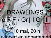 Hartzine Kongfuzi Booking présentent DRAWLINGS, Gr†ll concert privé