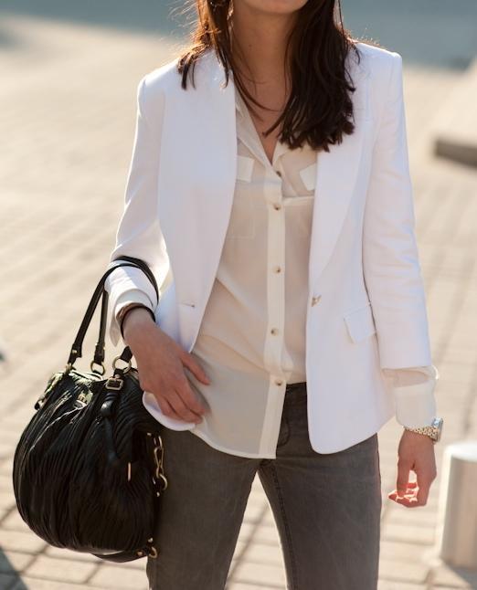 Zara veste blanche femme
