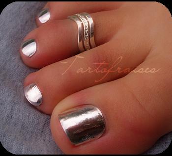 Blixz miroir argent pieds paperblog for Vernis miroir argent