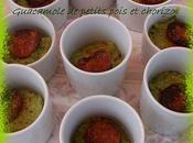 Guacamole petits pois chorizo