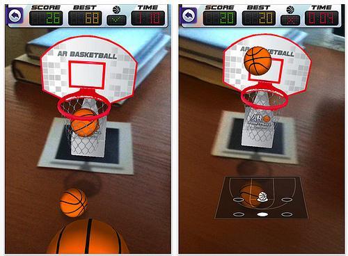 Arbasketball sur iphone jouer au basket au bureau d couvrir - Panier de basket de bureau ...