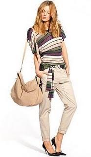 Avec quoi porter un chino voir - Que porter avec un pantalon beige femme ...