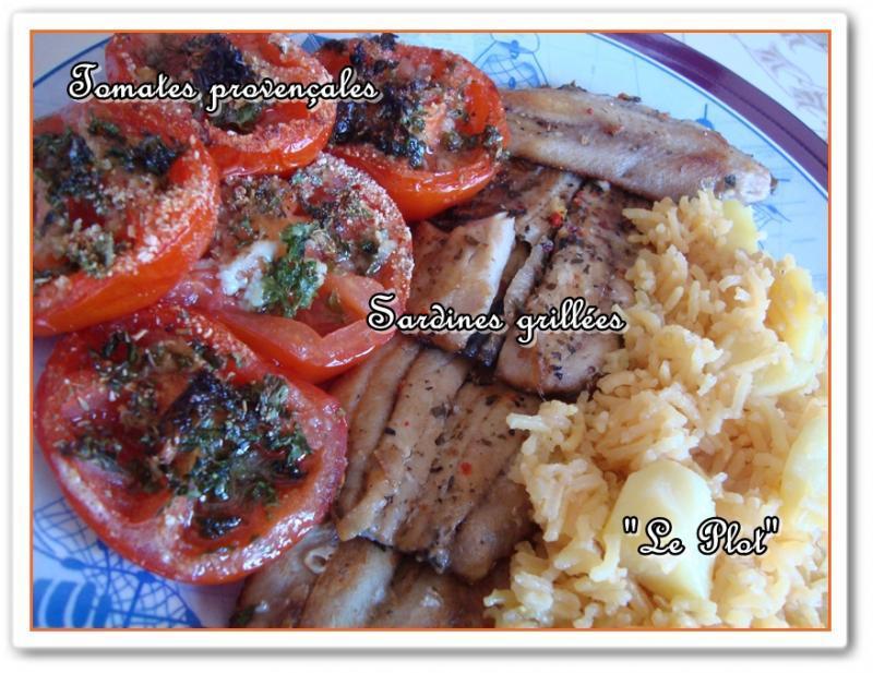 Filets de sardines grill s et leurs accompagnements voir - Cuisiner des filets de sardines fraiches ...