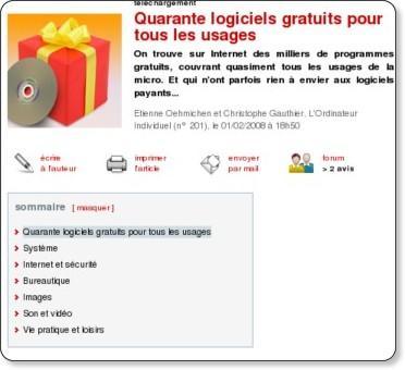 http://www.01net.com/editorial/370949/quarante-logiciels-gratuits-pour-tous-les-usages