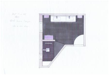 Projet en croquis salle de bain paperblog for Croquis de salle de bain