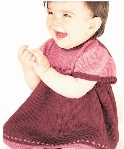patron tricot gratuit layette robe ample