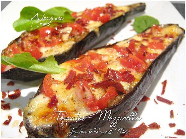 tartines d aubergines tomates et mozzarella