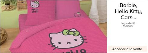 barbie hello kitty naruto linge de lit en vente priv e paperblog. Black Bedroom Furniture Sets. Home Design Ideas