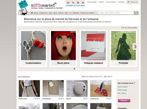 a little market et etsy deux sites pour vendre en ligne ses produits faits mains paperblog. Black Bedroom Furniture Sets. Home Design Ideas