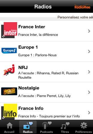 radiomee toutes les radios du monde en un clic app gratuites pour iphone ipod paperblog. Black Bedroom Furniture Sets. Home Design Ideas