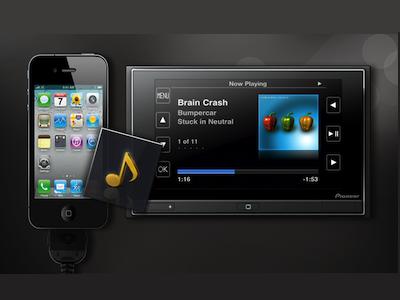 pioneer appradio autoradio d di l 39 iphone 4 autoradio son multim dia forum tuning. Black Bedroom Furniture Sets. Home Design Ideas