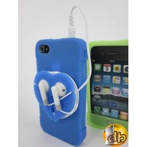 ou ranger ses ecouteur iphone et bien dans cette coque silicone iphone 4 avec support ecouteurs. Black Bedroom Furniture Sets. Home Design Ideas