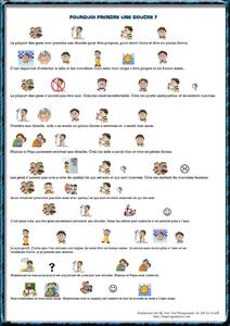 Exemple de scenario social texte et pictogrammes pourquoi prendre une douche paperblog - Comment prendre une douche rapidement ...
