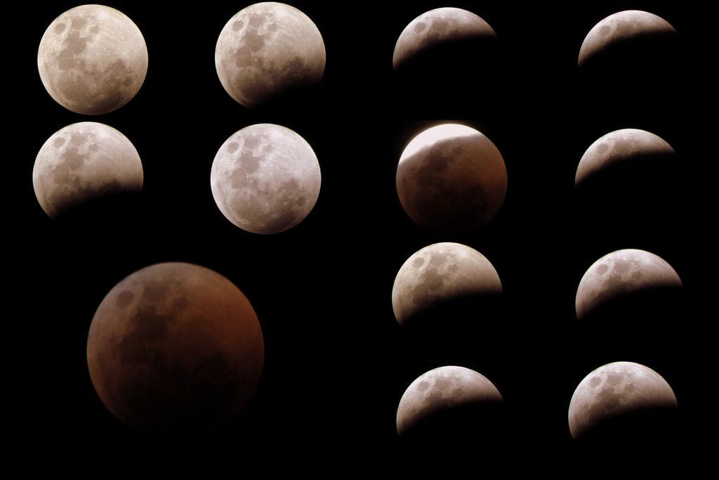 Montage de l'éclipse de la Lune