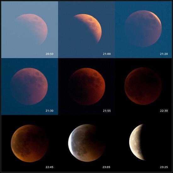 Eclipse de la Lune en Croatie
