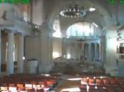 L'AR.Drone montre cathédrale néo-zélandaise dévastée