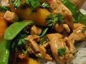 Sauté poulet nectarines