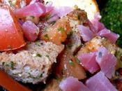 Panzanella (salade pain italienne) Féta rôtie