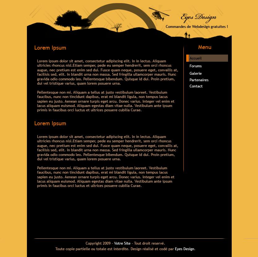 Voici quelques anciens de mes webdesigns codés…