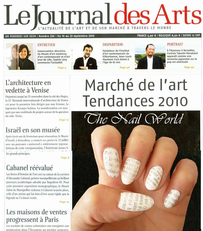 News paper nail art