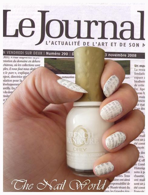New paper nail art
