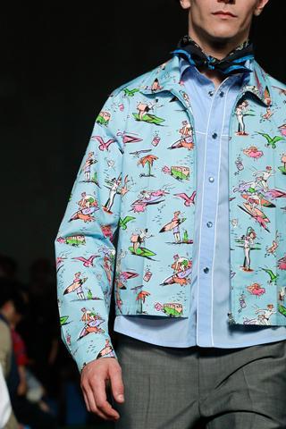 Weird prints Prada 2 10 tendances à retenir des défilés de Milan   Eté 2012