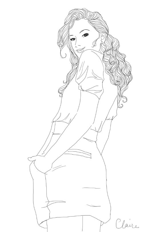 Coloriage girly