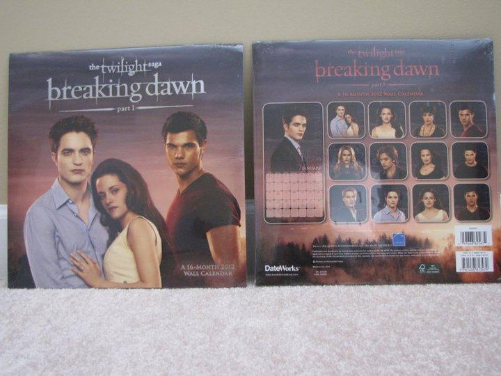 Découvrez un aperçu du calendrier 2012 de Breaking Dawn