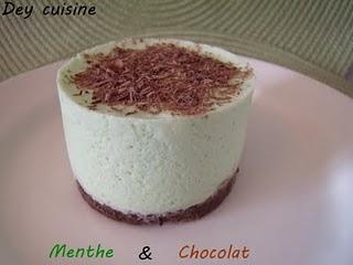 L'after eight : entremet menthe & chocolat