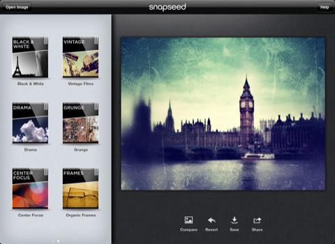 La retouche photo sur iPad avec Snapseed...