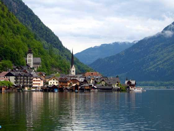 La petit bourgade d'Hallstatt - Autriche