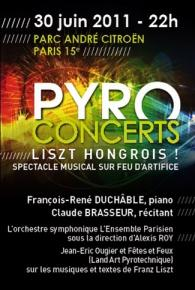 «Pyro concert»: Hommage à Liszt le 30 juin au Parc André Citroën